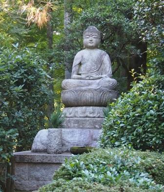 Buddha statue at Geikken sake brewery
