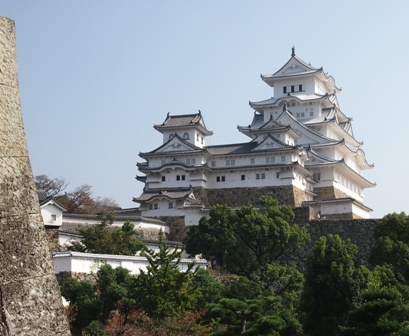 Himechi castle keep looms over all