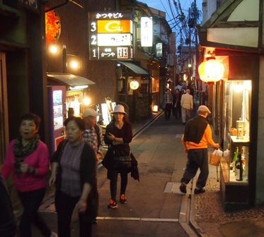 Ponto Cho street lined with izakaya and cafes