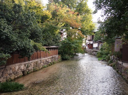 Along the river and Kyoto back streets