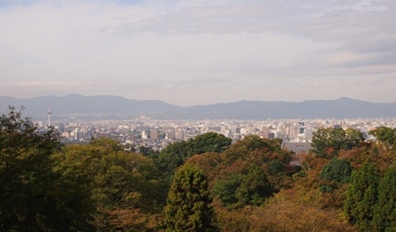 Overview of Kyoto from Kiyomizudera Temple