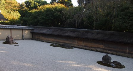 Zen garden at Ryoanji Temple