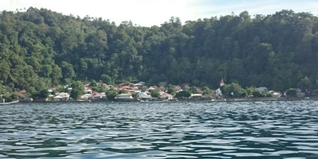 Village seen from boat between Ambon and Saparua