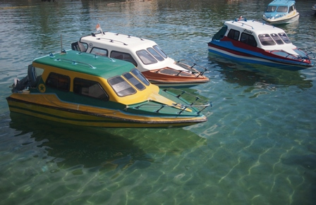 Boats in Haria harbour