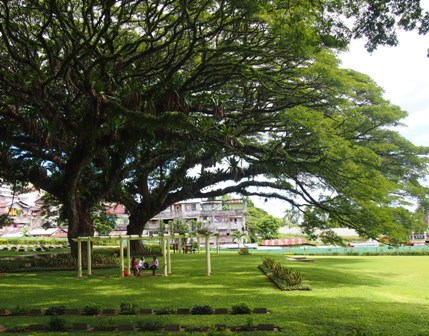 War cemetery and park in Ambon