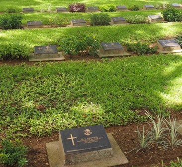 Graves at War Cemetery Ambon