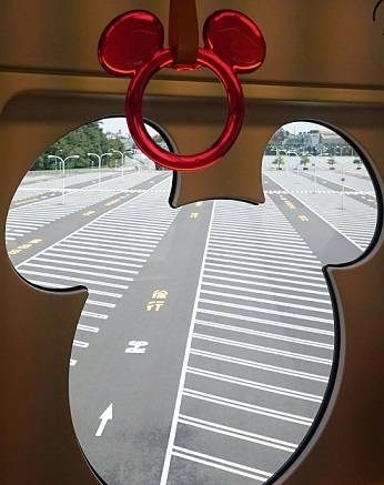 Mickey monorail window